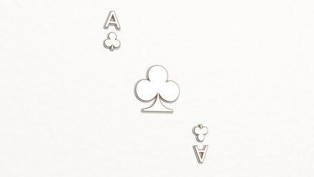 Ace of clubs in playing cards