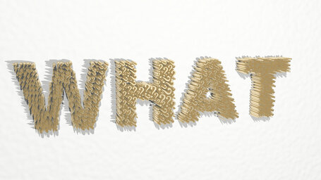 WHAT word written by question marks