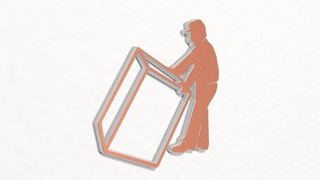 man carrying a big heavy box
