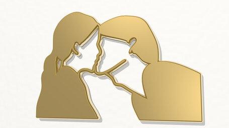 LGBT lesbian girls kissing