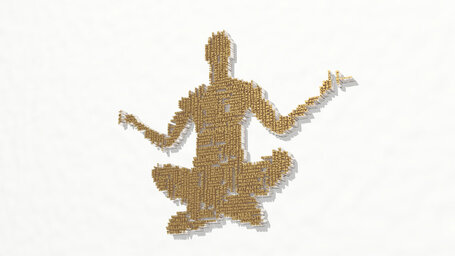 yoga man made of words