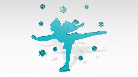 girl ice skating in winter