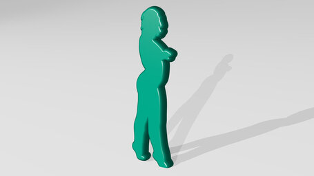 woman with curved body
