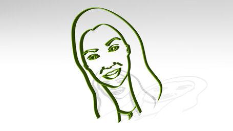 drawing o girl face