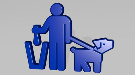 put dog litter in bin