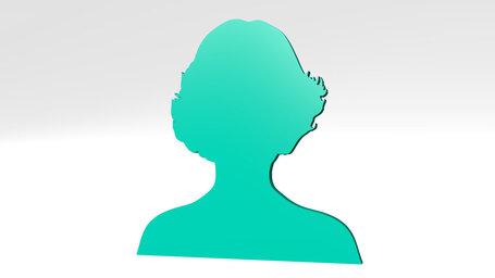 woman portrait with short hair