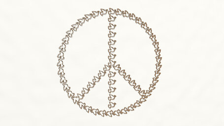 peace symbol made by dove