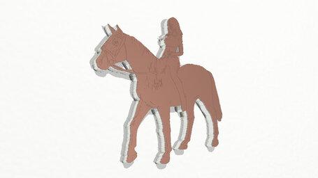 woman running horse