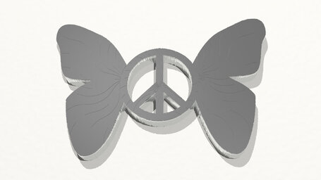 butterfly with peace sign