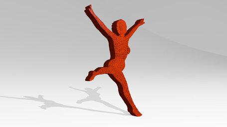 woman jumping and dancing