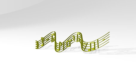 music notes playing