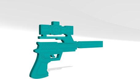 gun with pointer