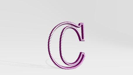 letter C made of stars