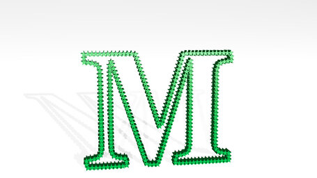 letter M made of stars