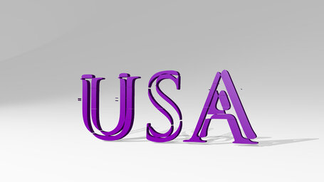 USA sign in letters