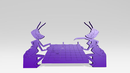 ants playing chess