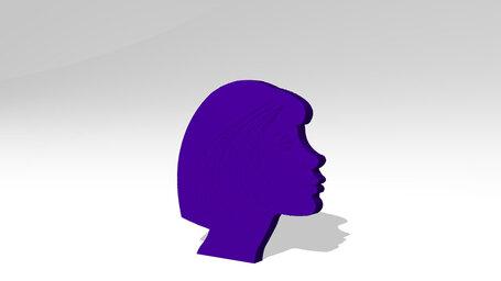 woman head with short hair