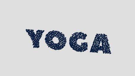 Yoga word by its positions