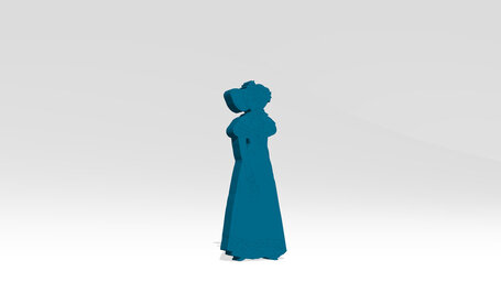 classic woman with old fashioned dress