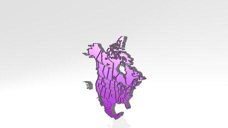 map of North America