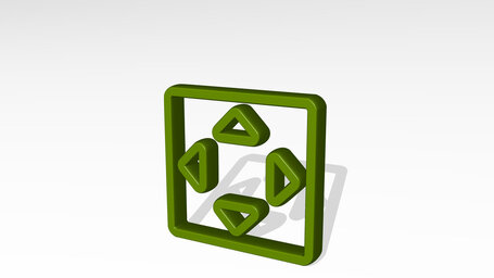 direction button square