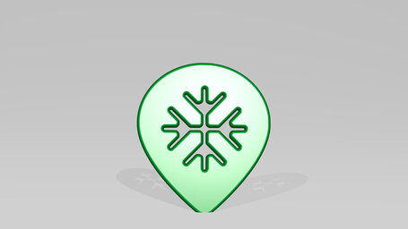style three pin snowflake