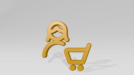 single woman actions cart