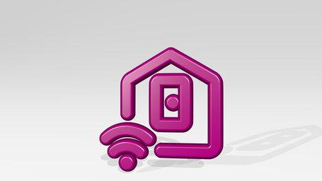 smart house door