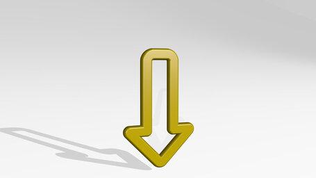 diagram arrow down