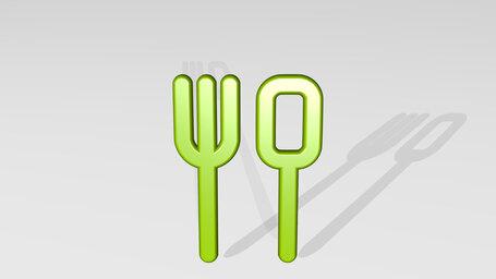 restaurant fork spoon