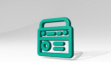 radio antenna handle
