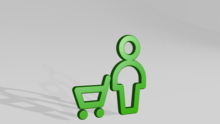 shopping cart man