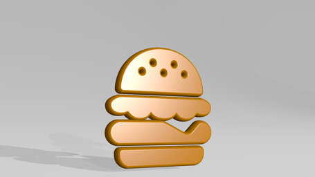 fast food double burger