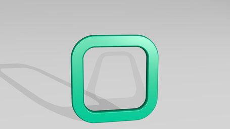 sign badge rectangular round alternate