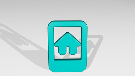real estate app house smartphone