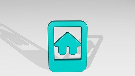 real estate app house smartphone