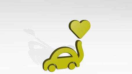 wedding car heart balloon