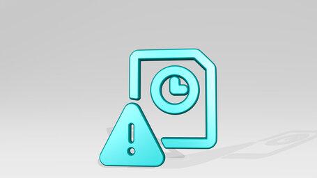 time clock file warning