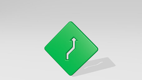 road sign right curve