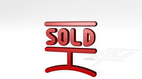 real estate sign sold