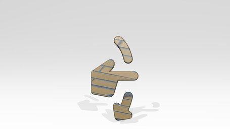 gesture swipe vertical down