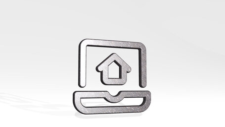 real estate app house laptop