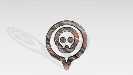 style one pin skull