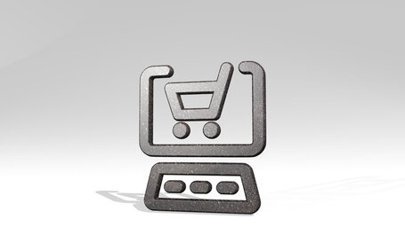e commerce cart monitor keyboard