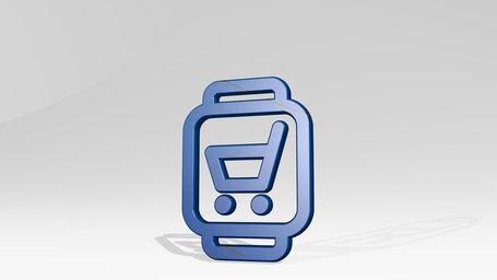 smartwatch shopping cart