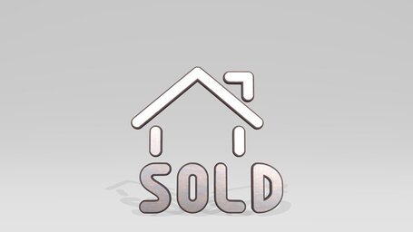 real estate sign house sold