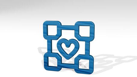 video game logo companion cube
