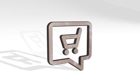 shopping cart man message
