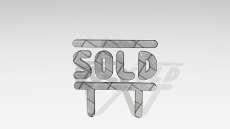 real estate sign board sold