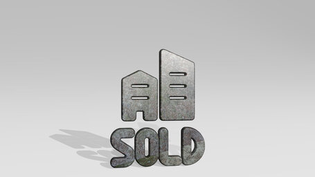 real estate sign building sold